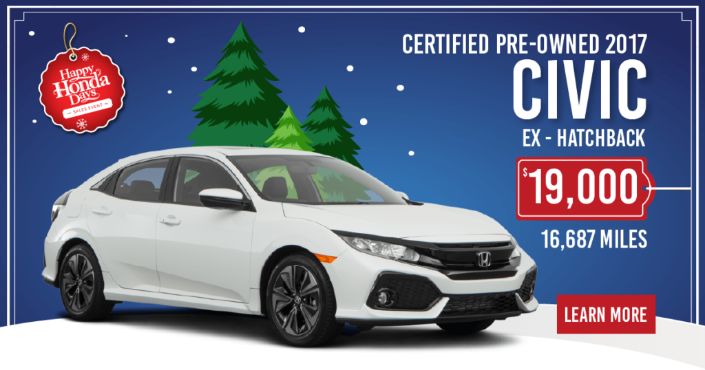 Certified Pre-Owned 2017 Civic EX Hatchback