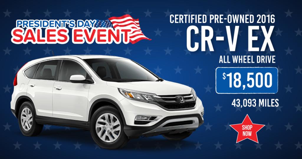 Certified Pre-Owned 2016 Honda CR-V EX