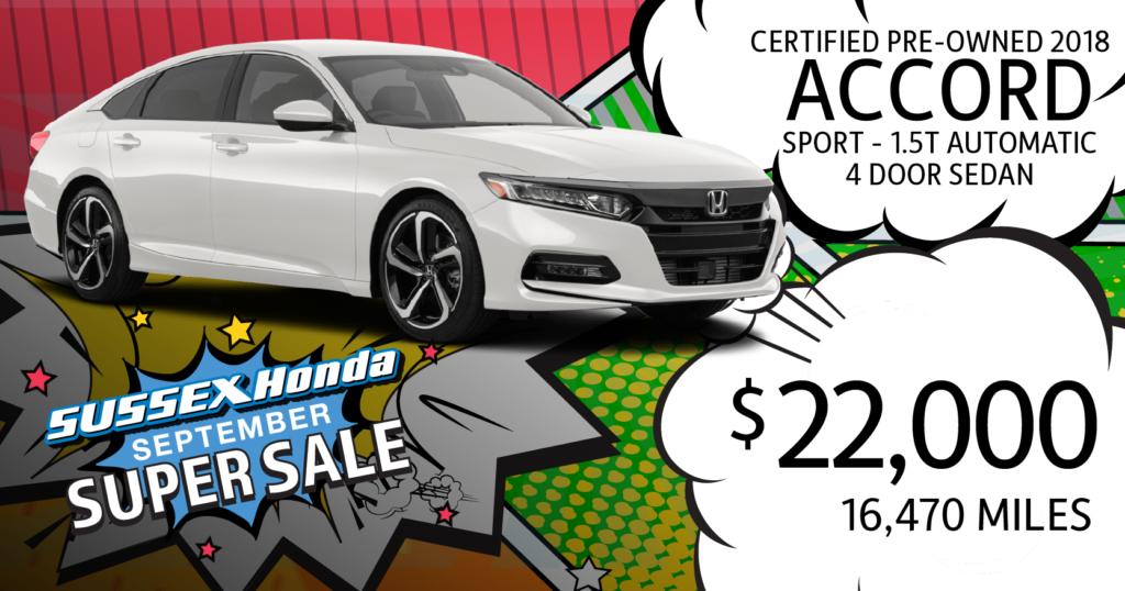 Certified Pre-Owned 2018 Honda Accord Sedan Sport