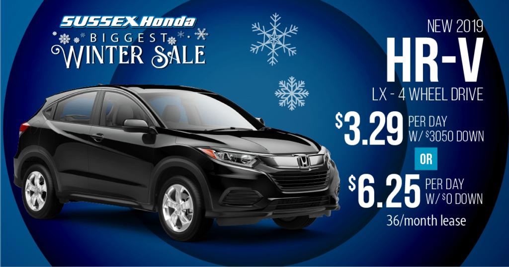 New 2019 Honda HR-V LX 4WD
