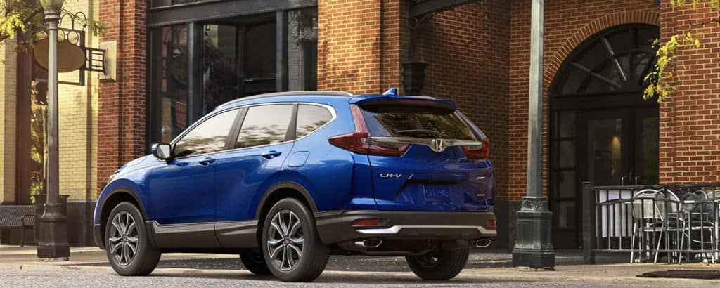 2020 Honda CR-V blue parked