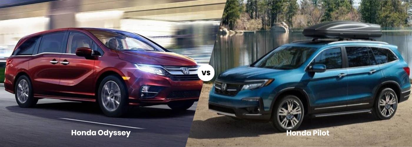 Honda Odyssey vs Honda Pilot