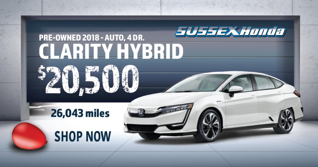 2018 Certified Pre-Owned Honda Clarity Hybrid