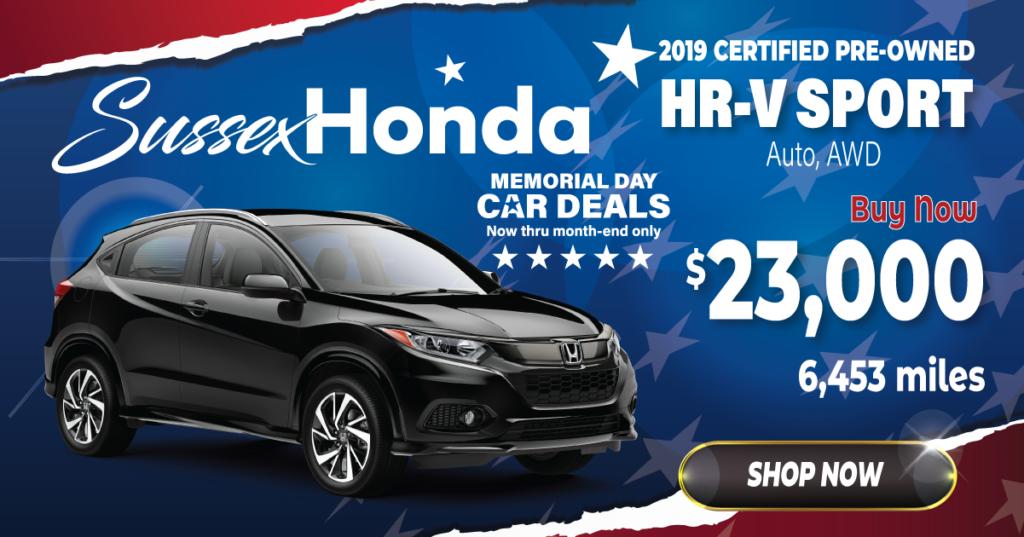 2019 Certified Pre-Owned HR-V Sport