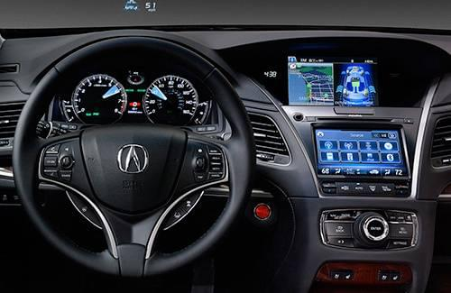 2016 Acura RLX Interior Dash and Steering Wheel