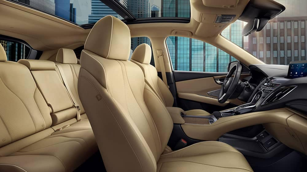 2019 Acura RDX side view of interior seats
