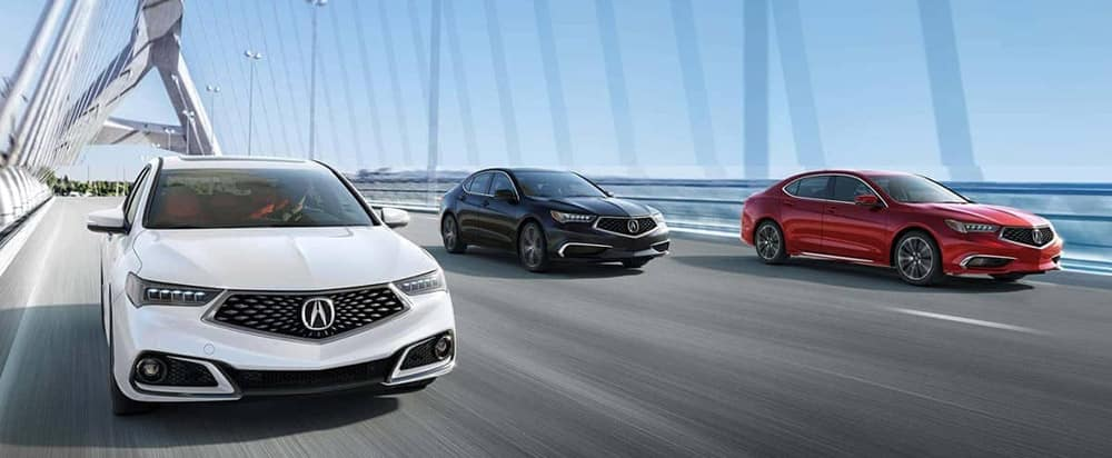 2019 Acura TLX on road