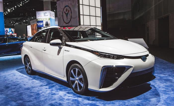 Hydrogen fuel cell technology available in the Toyota Mirai.