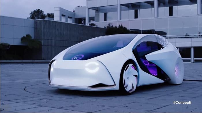 Check out the Toyota Concept-i autonomous vehicle.