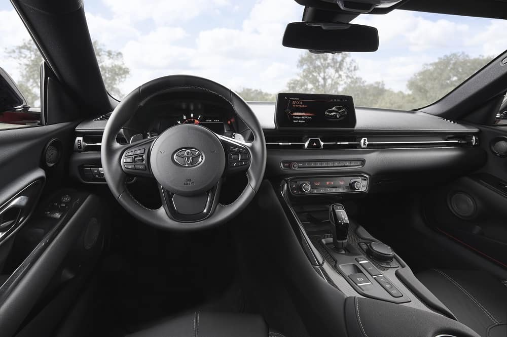 Clermont Toyota Supra interior features.