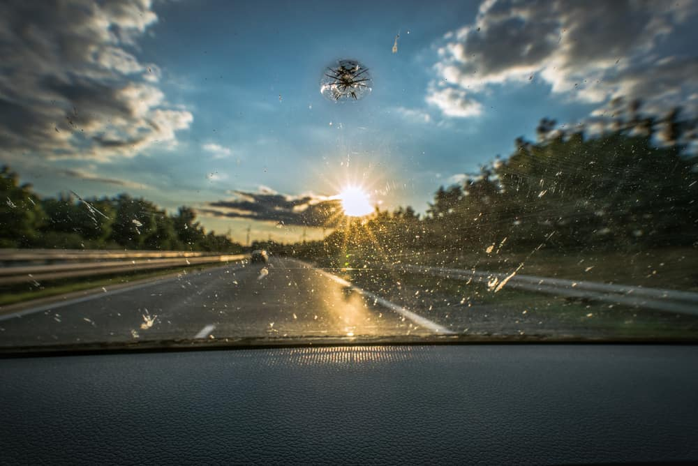 Cracked windshield repair in Clermont.