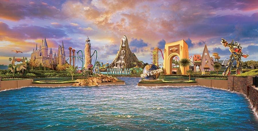 Tourist destinations near Orlando.