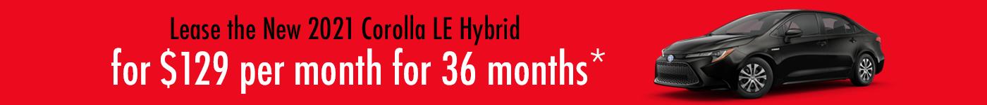Toyota Corolla Hybrid specials