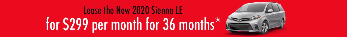 2020 Toyota Sienna Specials