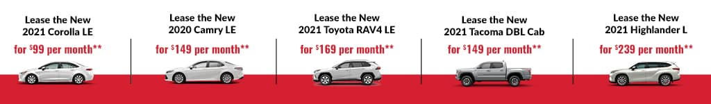 New Toyota Lease Specials