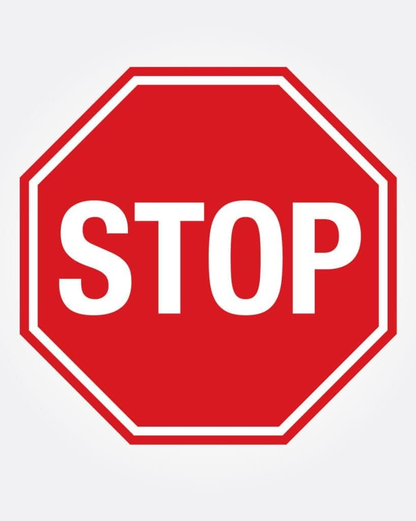 Clermont stop road sign
