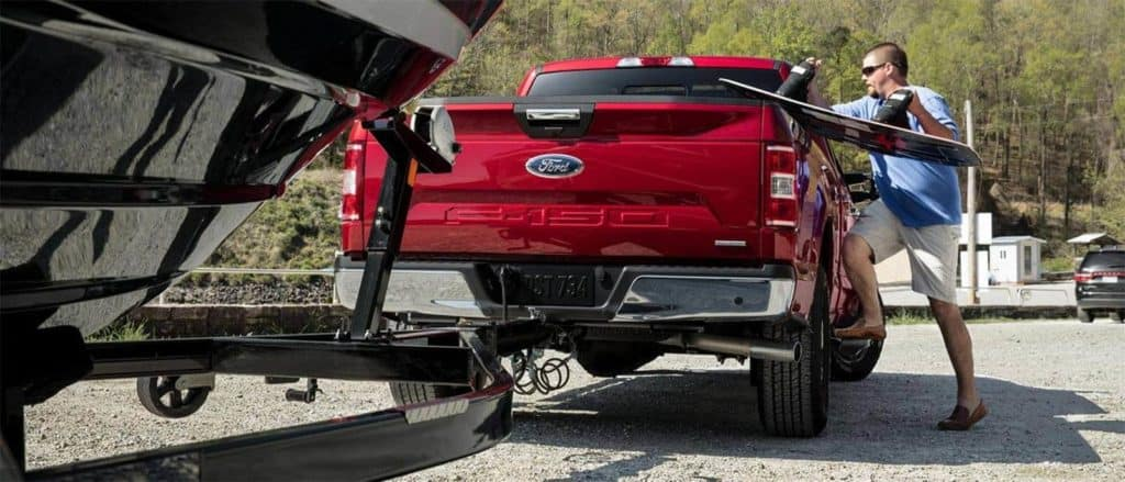 2018 Ford F-150 Towing Boat