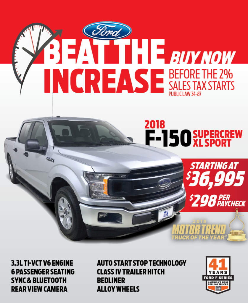 2018 Ford F-150 SuperCrew XL Sport