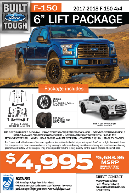 "truck-accessories-ford-f150-lift-kit-triple-j-guam-2017-2018-parts-specials-service-6""lift-package"