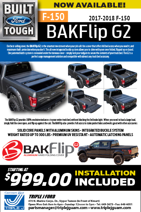 Ford F150 BAKFlip G2 2018 truck parts
