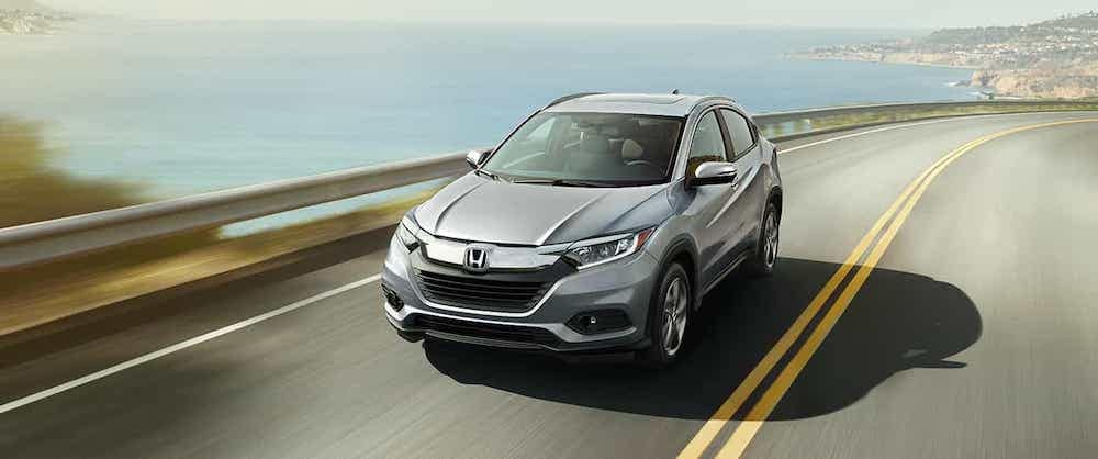 Silver 2019 Honda HR-V driving on highway