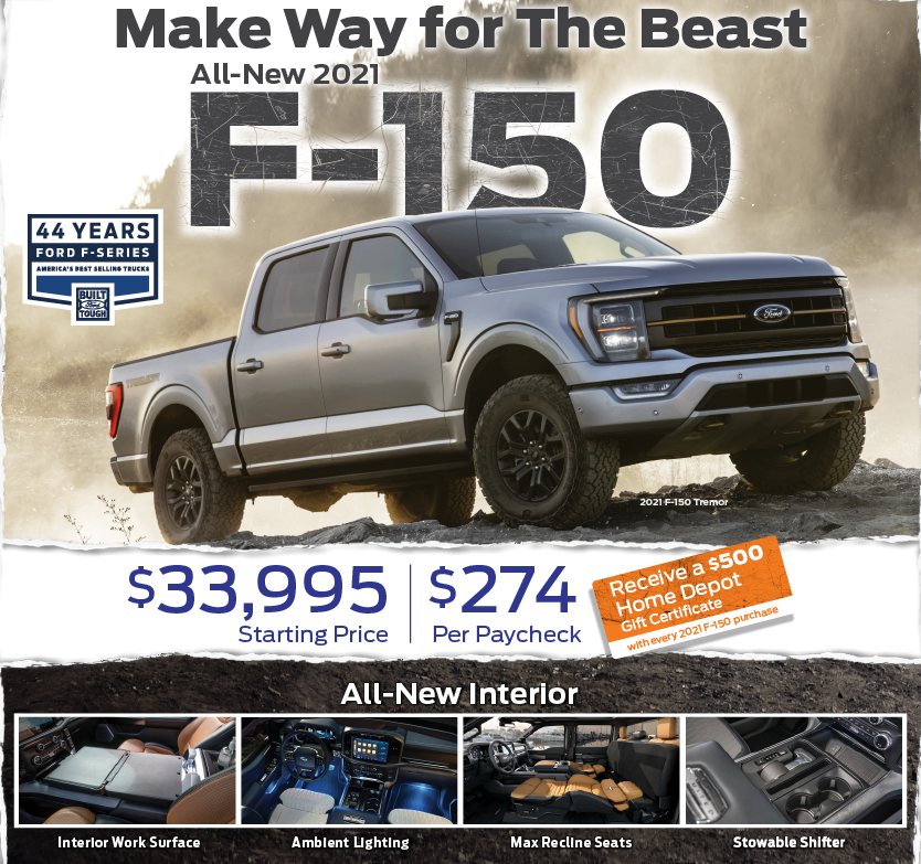 MAKE WAY FOR THE ALL-NEW 2021 FORD F-150