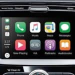 Close on touchscreen inside Kia Soul with Apple CarPlay