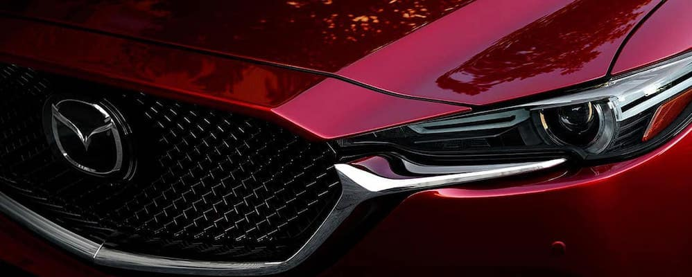 Close on red grille of 2019 Mazda CX-5