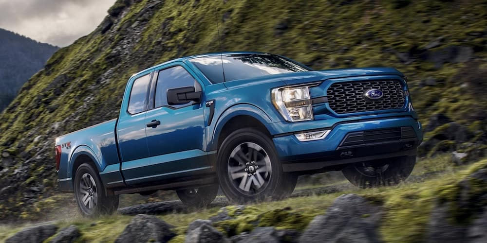 2021 Ford F-150 on Mountain Road