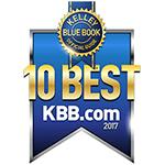 2017 Kelley Blue Book 10 Best Award