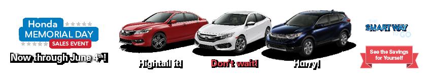 Tri-State Honda Memorial Day Sales Event