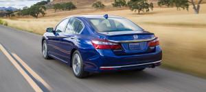 2017 Honda Accord Hybrid Exterior Rear Angle