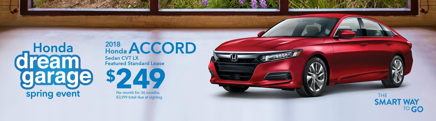 Tri-State Honda Dream Garage Spring Event 2018 Accord Lease Offer