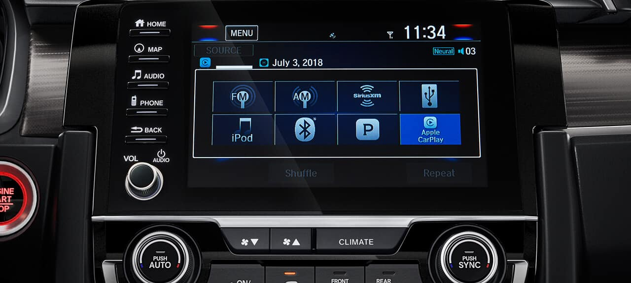 2019 Honda Civic Coupe Interior Display Audio Touchscreen