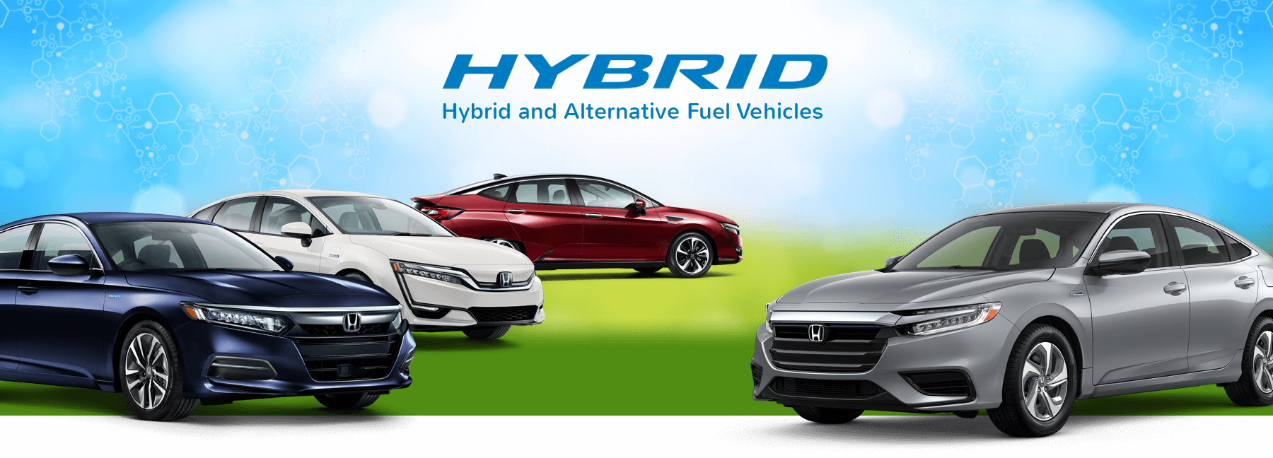 Honda Hybrid Cars and Alternative Fuel Vehicles Banner