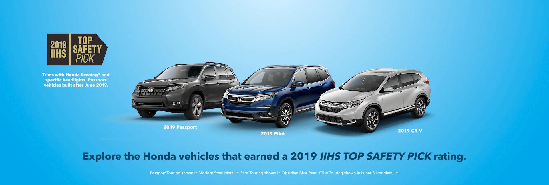 2019 IIHS Top Safety Pick Honda Award Slider