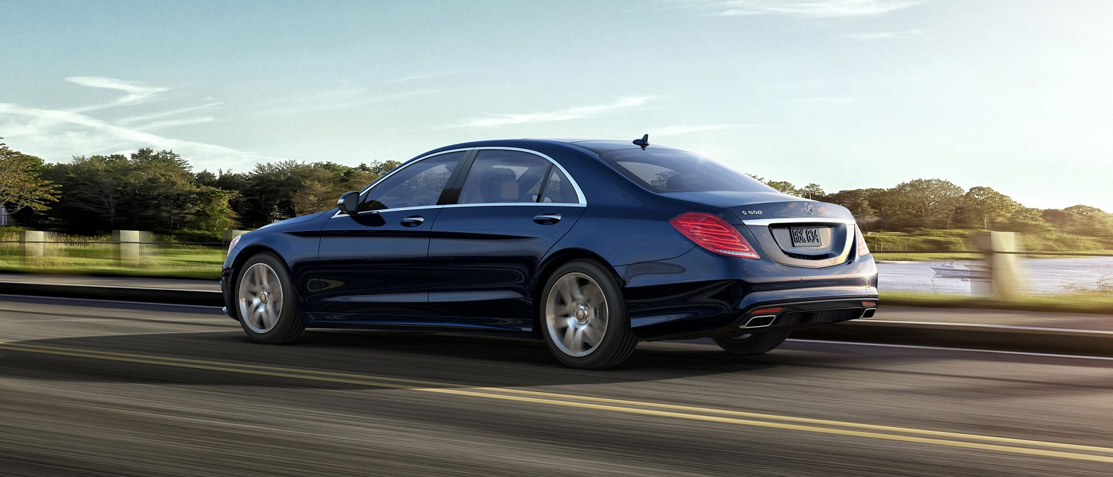 2015 Mercedes-Benz S-Class S550 Black Side Rear