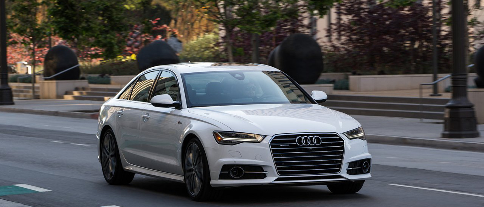 2016 Audi A6 on road