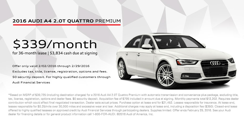 Audi A Lease Offer Sylvania OH Vin Devers Autohaus Of Sylvania - Audi a4 lease
