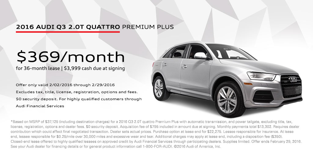 2016 Audi Q3 Lease Offer, Sylvania, OH - Vin Devers Autohaus