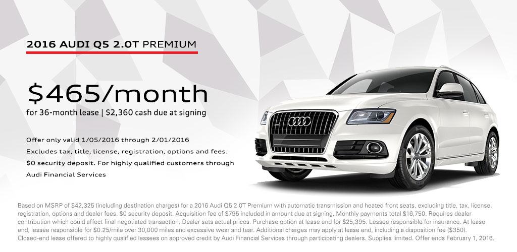 Audi Financial Services Phone Number >> Audi Q5 January Lease Offer Vin Devers Autohaus Of Sylvania