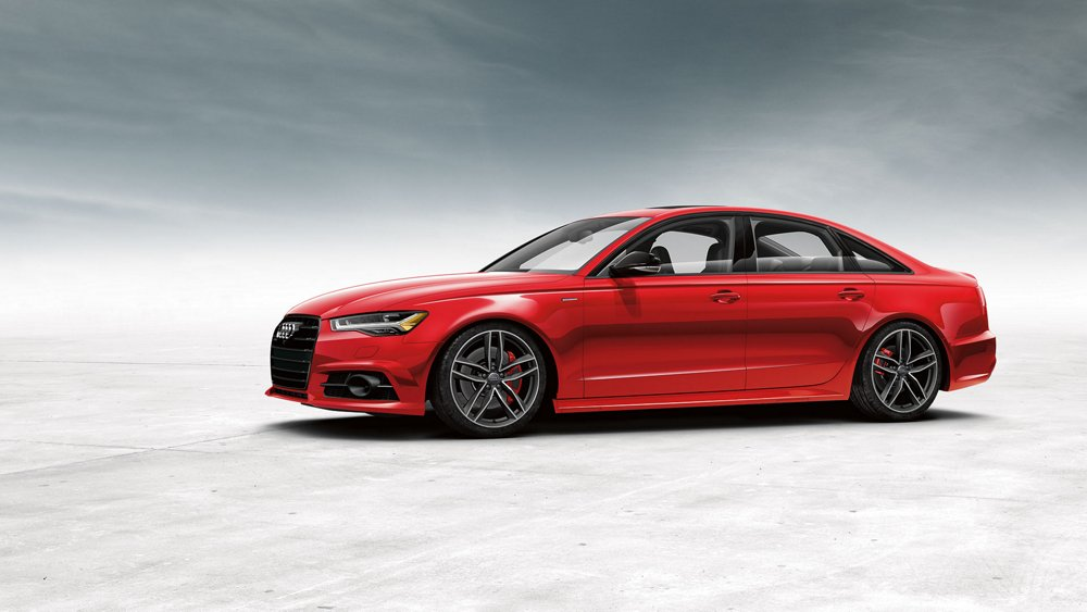 red 2017 Audi A6