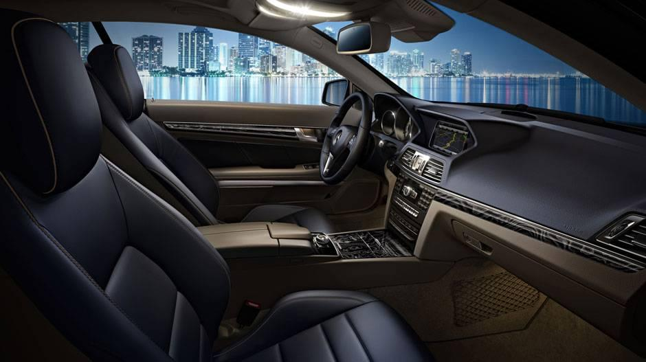 2017 Mercedes Benz Eclass coupe interior