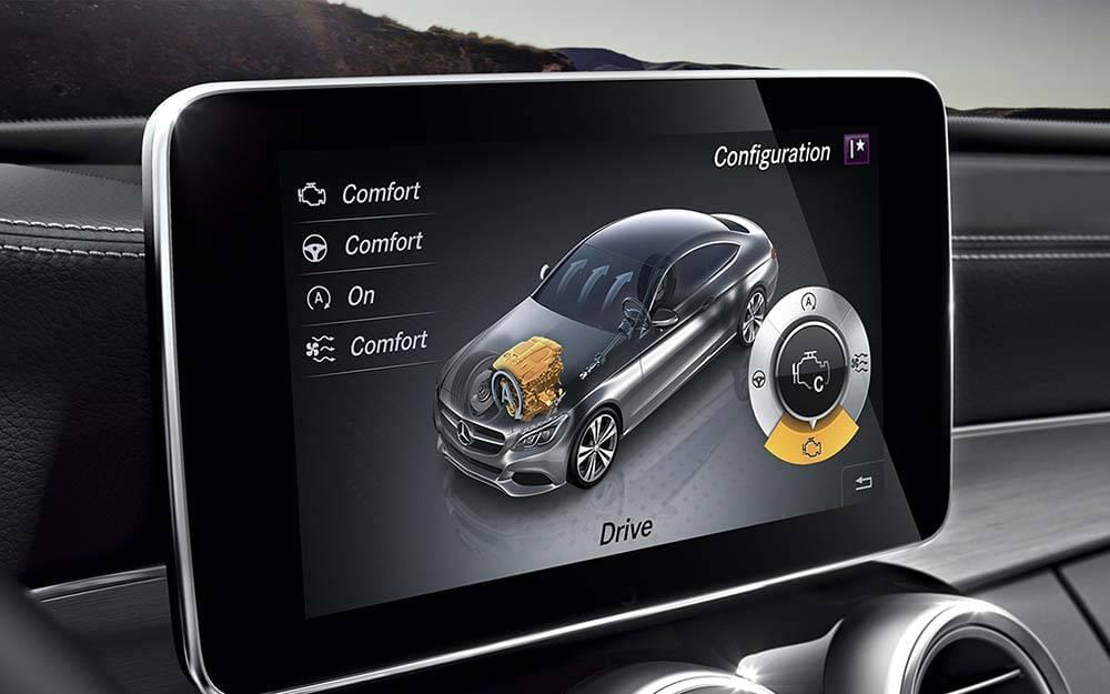 2017 MB C Class Coupe Touchscreen