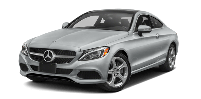 2017 MB C300 4Matic Coupe Silver