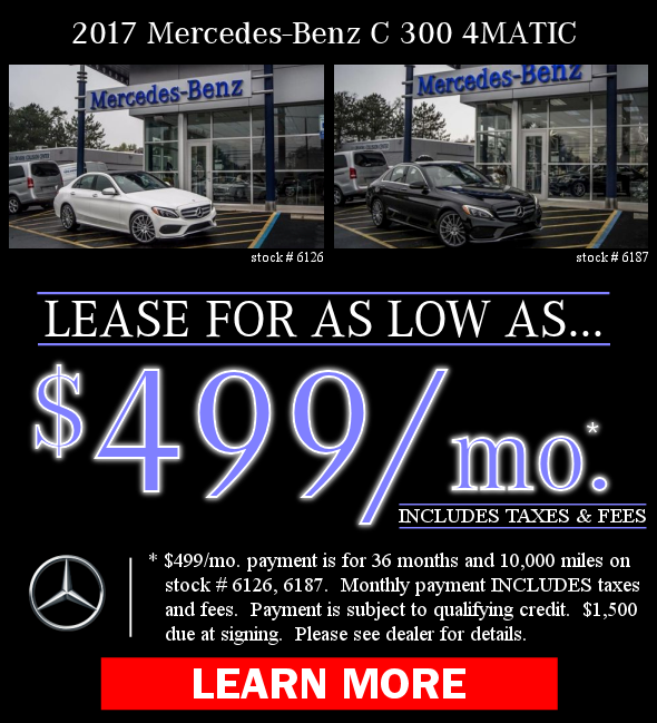2017 Mercedes-Benz C 300 Offers. Learn More!