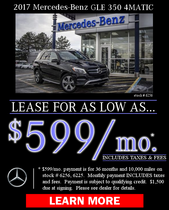 2017 Mercedes-Benz GLE 350 4MATIC Offers. Learn More!