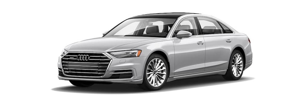 2019 Audi A8 luxury sport sedan in gray