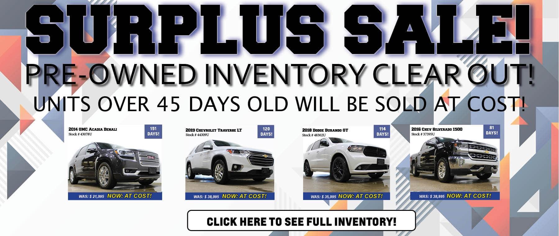 Surplus Sale Slider