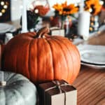 Shot of a table set up for fall at home.